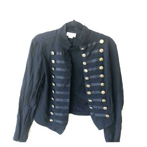 Vintage blazer with gold medallions